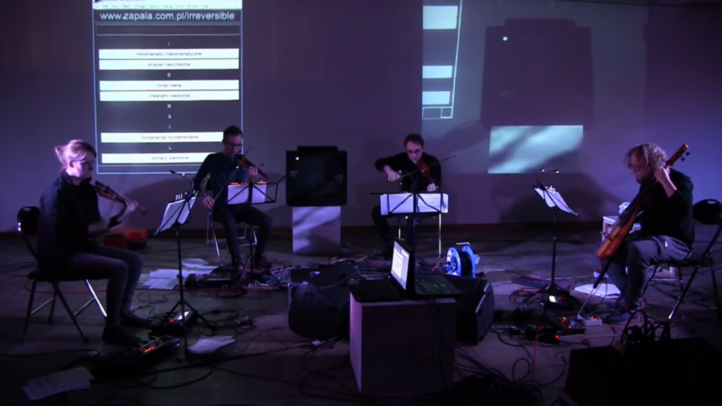 IRREVERSIBLE / NIEODWRACALNE (Neo Electric Quartet, loopers, interaction system)